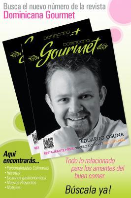"""Circula la mas reciente edición de la revista """"Dominicana Gourmet"""""""